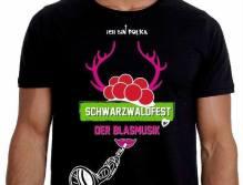 So sieht das T-Shirt zum Schwarzwaldfest aus.